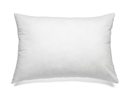 Cerca de una almohada blanca sobre fondo blanco Foto de archivo - 37091884