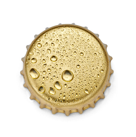 cola bottle: close up of  a bottle cap on white background