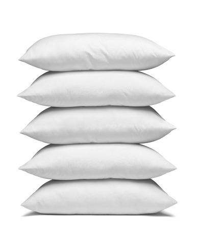 Nahaufnahme von einem weißen Kissen auf weißem Hintergrund Standard-Bild - 38591299