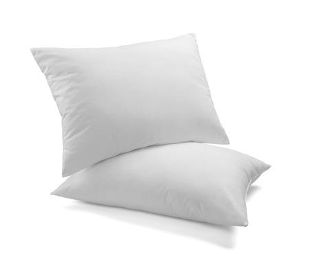 Nahaufnahme von einem weißen Kissen auf weißem Hintergrund Standard-Bild - 39679664