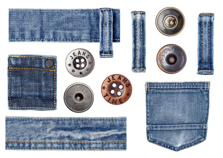 button set: jeans parts