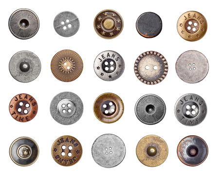 leather: button Stock Photo