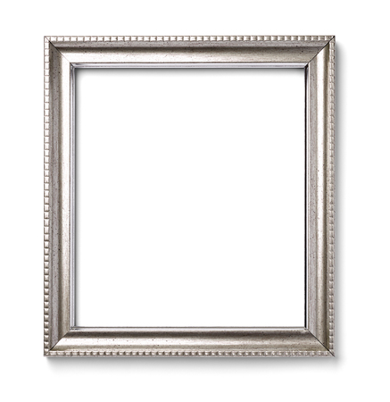 antique frames: close up of  a vintage wood frame on white background Stock Photo