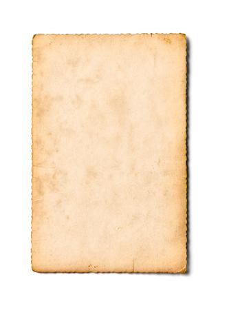 papel de notas: de cerca de una vieja foto sobre fondo blanco Foto de archivo