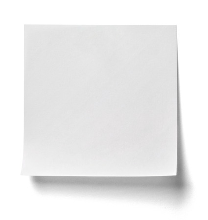 papel de notas: nota de papel Foto de archivo