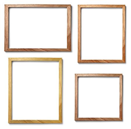 Sammlung von verschiedenen Vintage-Holz-Rahmen auf weißem Hintergrund Standard-Bild - 41787163