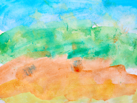 colours: watercolor background