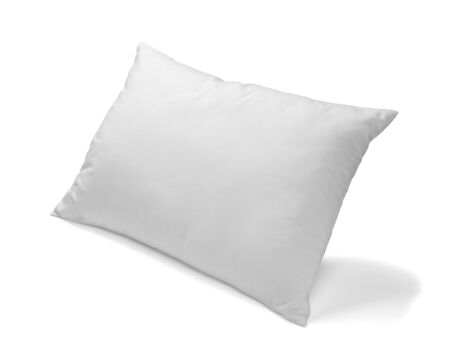 white pillow: close up of  a white pillow on white background