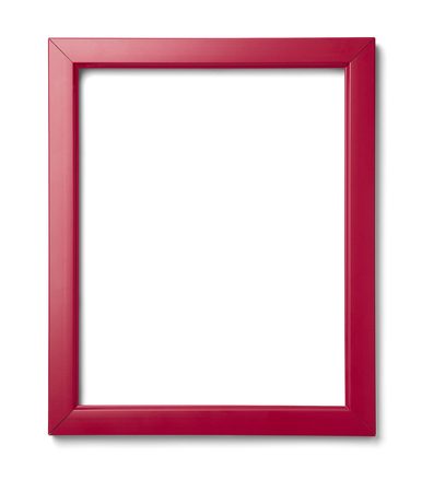 close up of  a vintage wood frame on white background Stock Photo