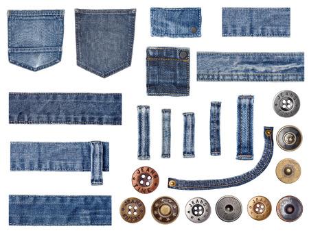 in jeans: pantalones vaqueros Foto de archivo