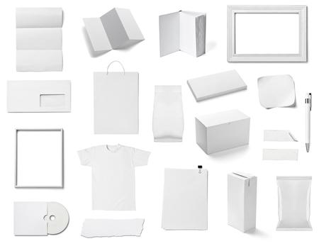 white paper bag: white templates