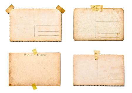 postcard: colección de fotos antiguas sobre fondo blanco. cada una se dispara por separado