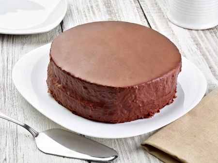 close up of a sacher cake cake Stockfoto