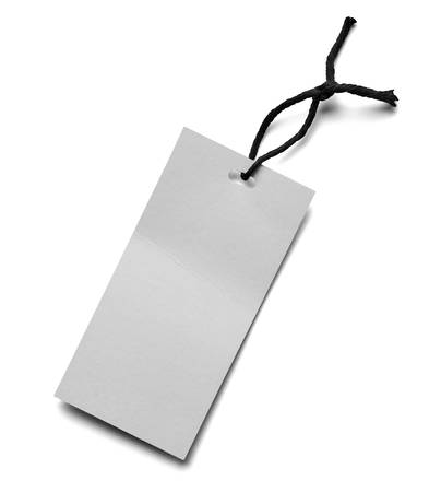 annotation: close up of  a price label note on white background