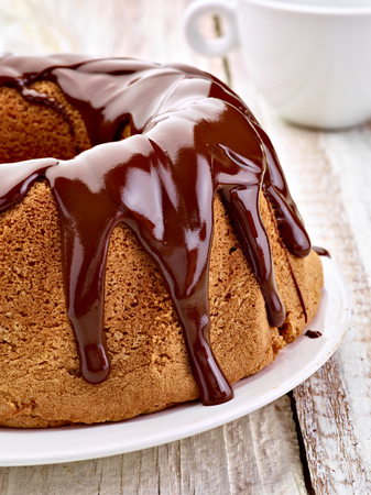 close up of a chocolate cake