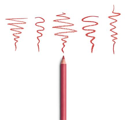 eyeliner: close up of  an eyeliner on white background