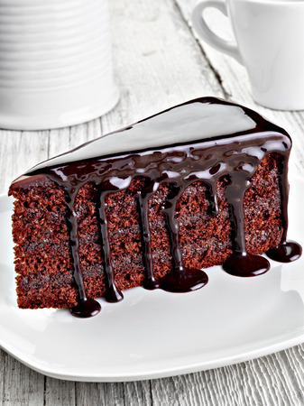 chocolate cake: close up of a chocolate cake