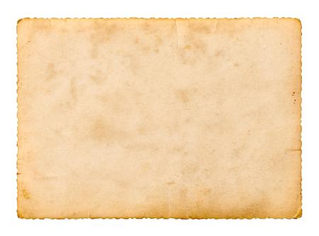 gros plan d'un vieux film instantané de photos sur fond blanc