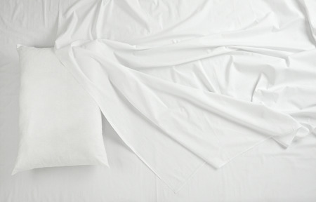 bed sheet: close up of bedding sheets and pillow