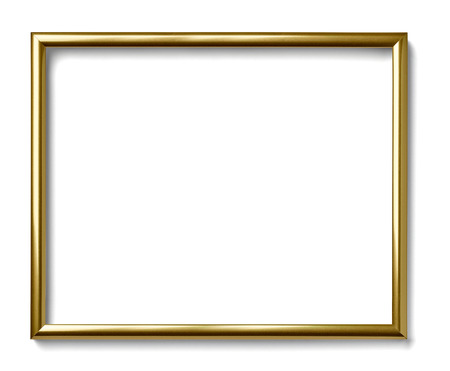 close up of  a vintage wood frame on white background Archivio Fotografico