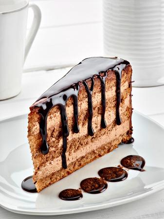 pastel de chocolate: Primer plano de un pastel de chocolate