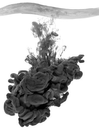 black paint in water