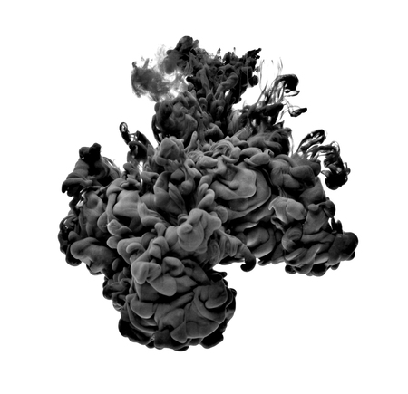 schwarze Farbe in Wasser