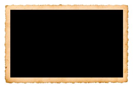 Nahaufnahme von einem alten Foto auf weißem Hintergrund Standard-Bild - 57760903