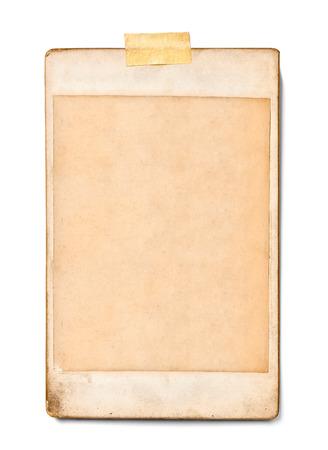 Nahaufnahme von einem alten Foto auf weißem Hintergrund