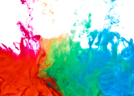 close up of paint in water Stock Photo