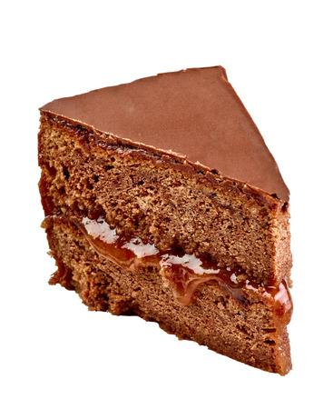 close up of a sacher cake cake Banque d'images