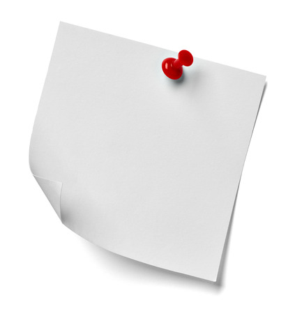 paper pin: note paper with push pin