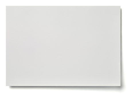 businesscard: close up of a white note paper on white background Stock Photo