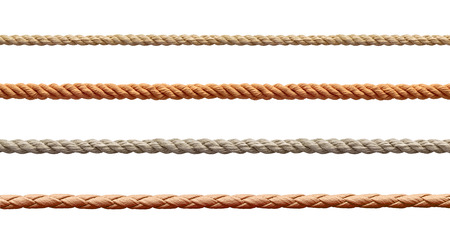 collection of  various ropes string on white background. each one is shot separately Stock fotó