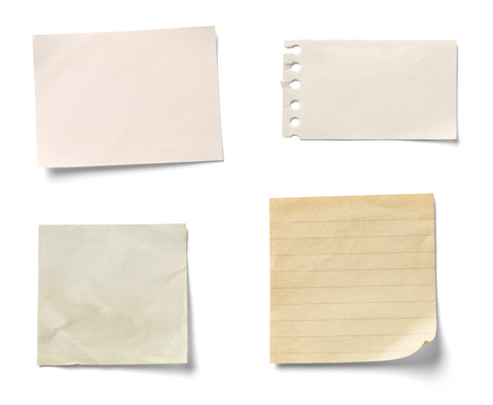 note paper on white background