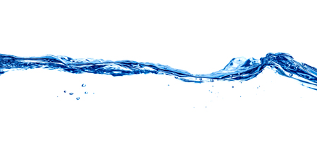 close up of water waves and bubbles on white background