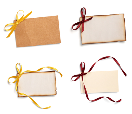 note with ribbon