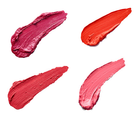 smudged lipstick make up Stock Photo
