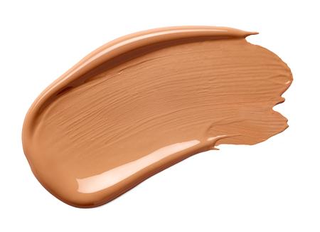 close up of beauty liquid powder stroke on white background  免版税图像