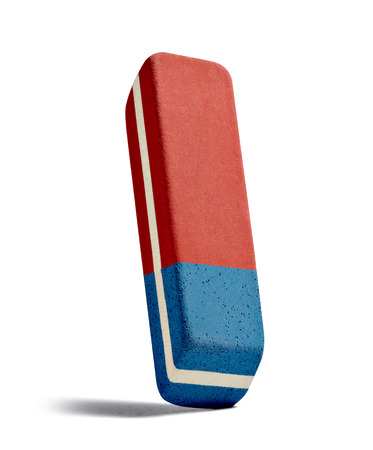 close up of a eraser on white background