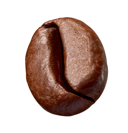close up of a coffee bean on white background Stockfoto