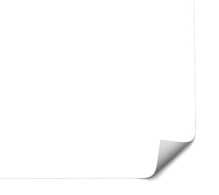 close up of a white paper page curl Imagens