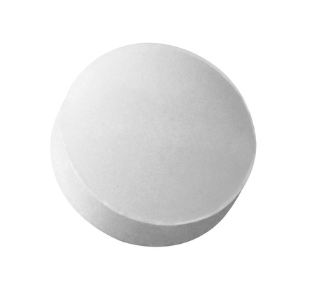 close up of a white pill on white background 版權商用圖片