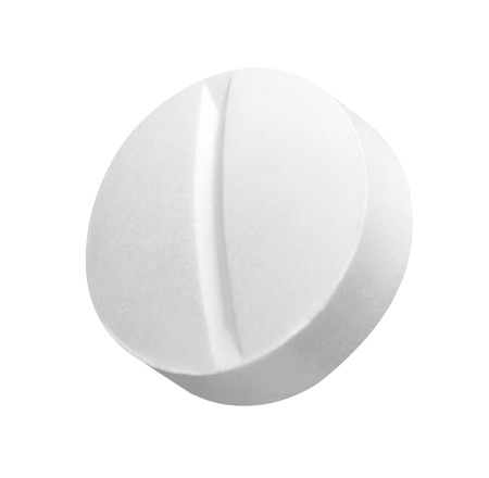 close up of a white pill on white background Stok Fotoğraf