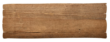 close up of a wooden sign background on white background Reklamní fotografie