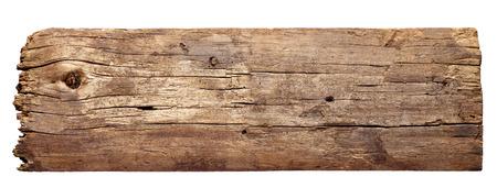 Nahaufnahme von einem Holzschild Hintergrund auf weißem Hintergrund