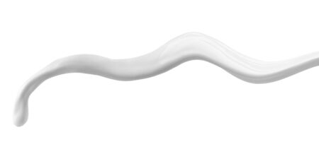 close up of  a milk splash on white background