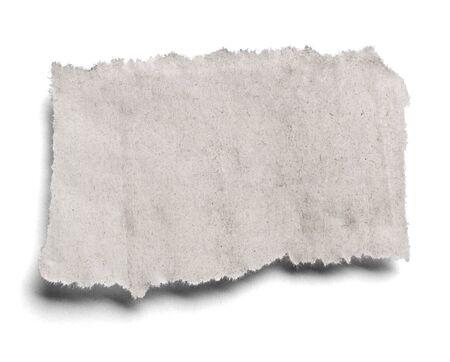 Sammlung verschiedener Zeitungsartikel auf weißem Hintergrund. Jeder wird einzeln gedreht