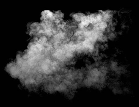 Nahaufnahme von Dampfrauch auf schwarzem Hintergrund
