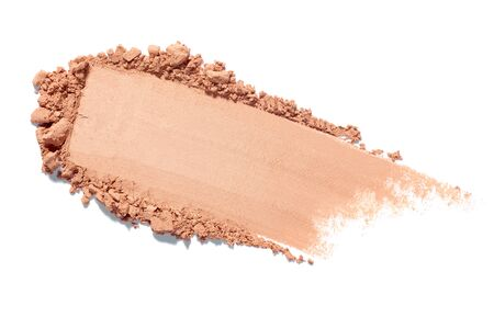 close up of face powder on white background Imagens